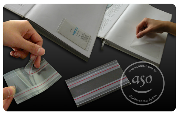 Business crd folder, self adhesive, CPP material