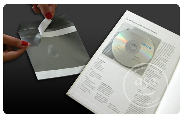 CD Sleeve 100 micron cpp material self adhesive